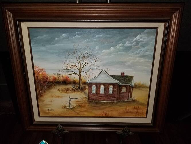 1924 Schoolhouse Painting
